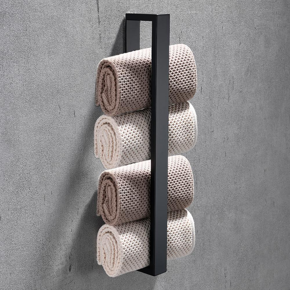 40cm serviettes de bain en acier inoxydable Porte débarbouillettes débarbouillette Porte auto-adhésif Maison Fournitures de cuisine