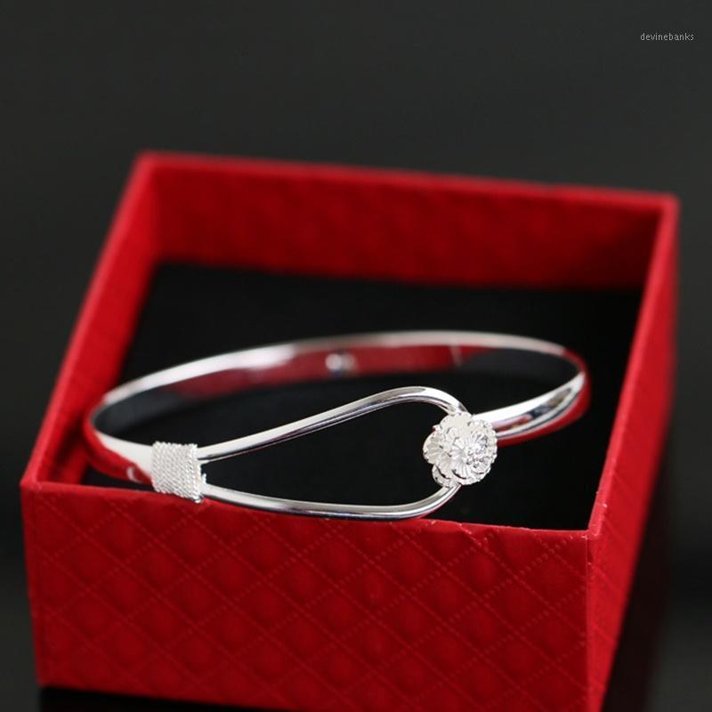 Bangle Accessoires Charme Portable Bijoux Cadeau Silver Gardon romantique Femme élégante bracelet1