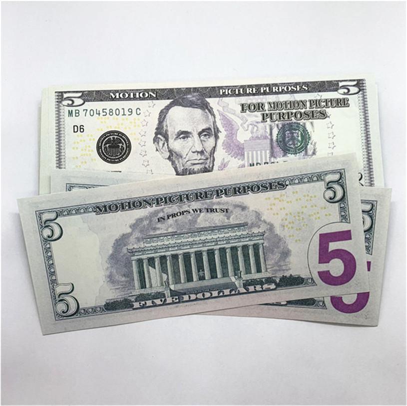100 stücke / pack neues design 2021 bar party banknoten dollar kopie banknoten großhandel realistisch vorgeben Geldpapier A20