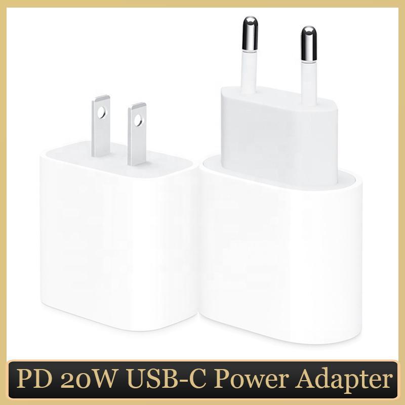 PD 20W Netzteil mit Retail Box USB-C Schnellladegerät für iPhone 12 Typ-C-Anschluss EU-US-Plug Fast Safe-Gebühren