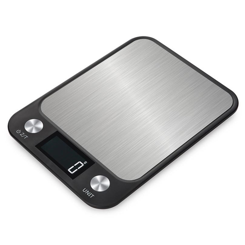 10kg / 1G LCD LCD Display Escala de Cozinha Aço Inoxidável Comida Eletrônica Balança de Peso Digital para Cozinha 201212
