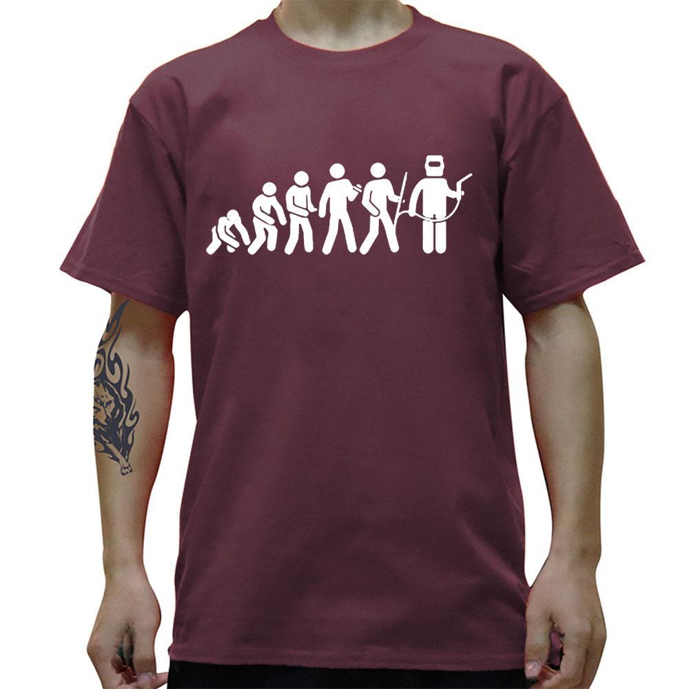 Evolution Soudage T-shirt Hommes Nouveauté Funny Homme Hommes Croiseaux Tops Souffeuse Soudeuse Outil Vêtements à manches courtes