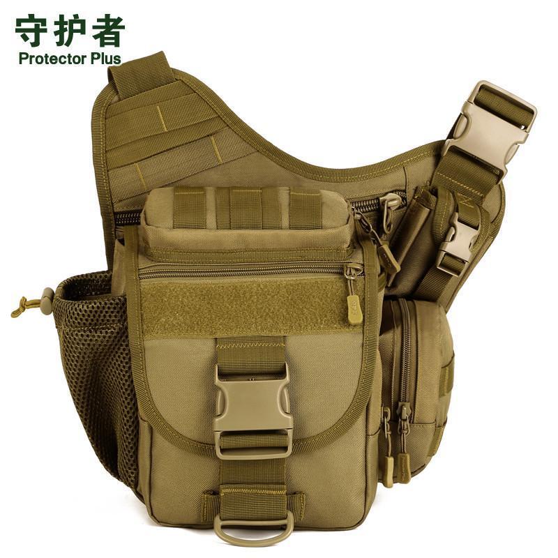 Outdoor-Taschen DSLR-Taktische Tarnung Kamera-Pack Frauen Messenger Bag Männer Sport Wasserdicht Nylon Sattel S046