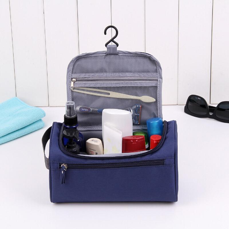 Hommes fonctionnels suspendus maquillage fermeture à glissière nécessairement organisateur stockage pochette de toilette voyage sac cosmétique maquillage sac de lavage