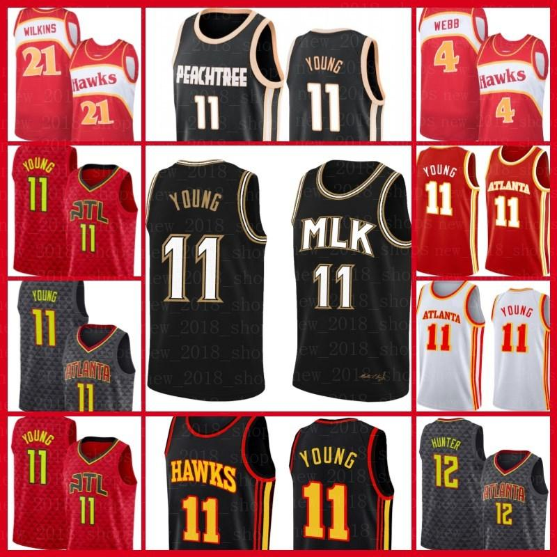 TRAE 11 Jerseys Jersey Baskeball AtlantaHalcónJersey Spud De'Andre Webb Hunter Jamal 27 Murray BrooklynRedesHombres
