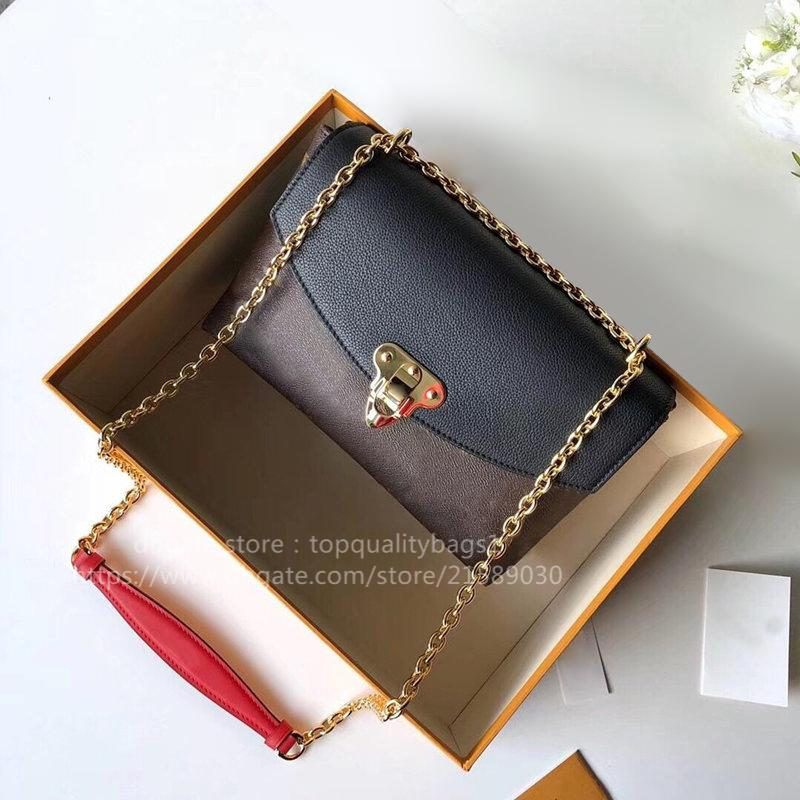 Hot Venduto Fashion M43751 Genuine Pelle Top Quality Donne Lussurys Designer Borsa a tracolla Classic Letter Key Catena Crossbody Bag Shipin