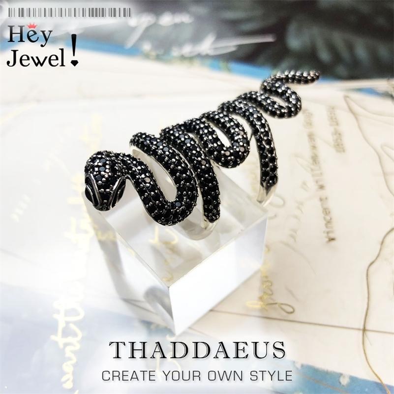 Длинные черные змеиные кольца, в Европе Стиль сердца Винтаж хорошие евреи для девочек Женщины, подарок в Стерлинговом серебре 925, Super Deals 201218