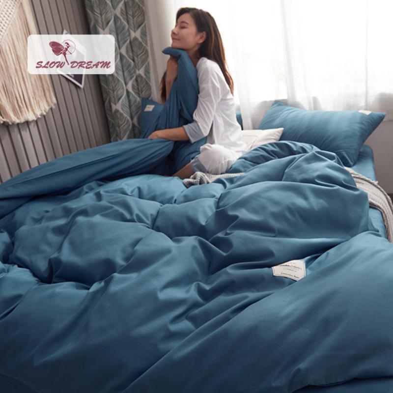 Sloredream Biancheria da letto Biancheria da letto Doppio Piumino Cover Doppia Lenzuola Elastico Band Elastico Casa Tessuti Tessile Biancheria Biancheria Biancheria da letto Adulto Bed Stile Giapponese