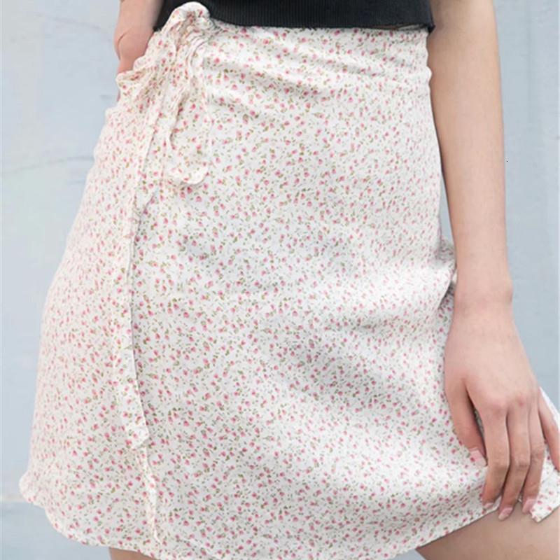 Venta Pass Hot Style Falda floral Restauración Antigua Formas de verano 2020 Verano en Europa y BM con faldas de cintura alta
