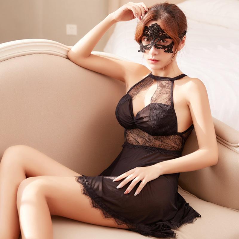 New Sexy Pijama Mesh Night Dress Nightdress Vendas direta de Fábrica Taobao One