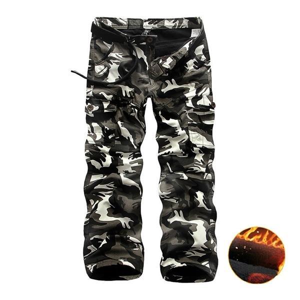 Polar Kargo Pantolon Erkekler Rahat Gevşek Çok Cep Pantolon Erkekler Kış Askeri Ordu Savaş Kamuflagetaktik Pantolon Erkek Giyim X1116