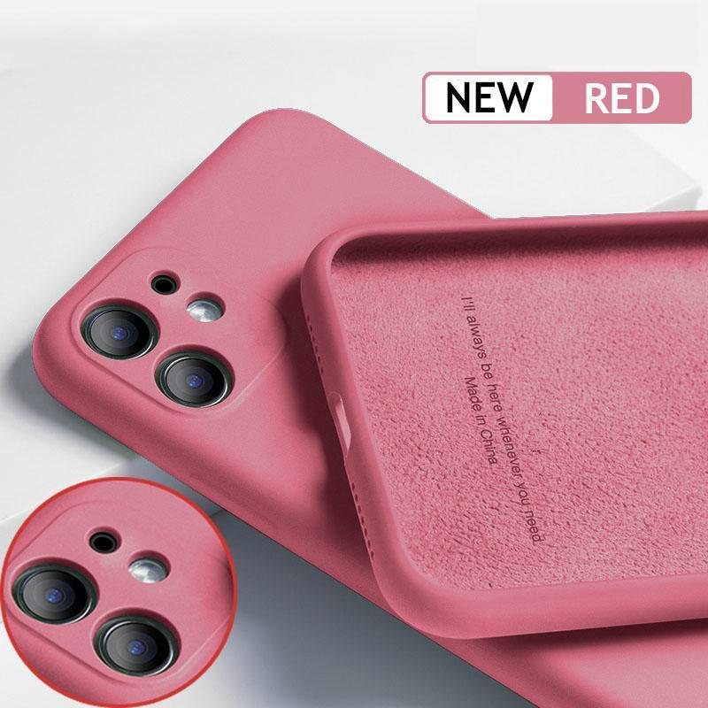 Per iPhone 11 12 Pro SE 2 Case Case Luxury Original Silicone Protezione completa Cover Soft per iPhone X XR 11 XS Max 7 8 6 6S Cassa del telefono