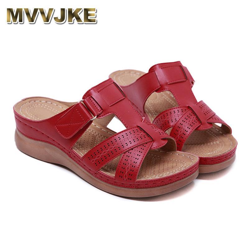 Mvvjke женщины Premium Orthopedic открытые носки сандалии старинные противоскользящие дышащие для лета Y200702