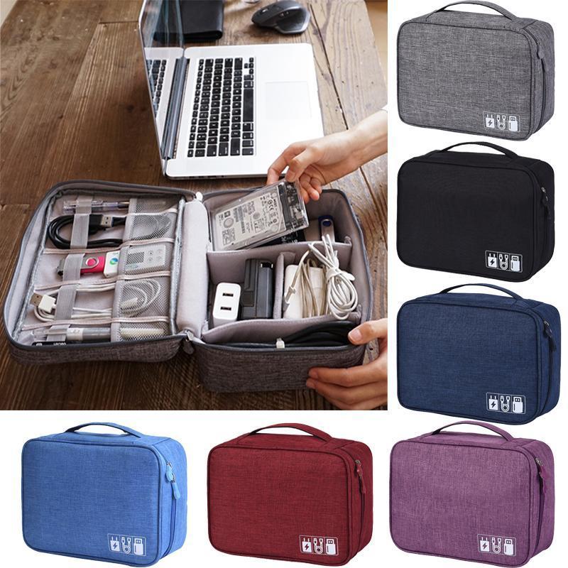 Digital Storage organizzatore del sacchetto sacchetto Travel Charger cavo dati armadio USB per caricabatterie da viaggio per cuffie