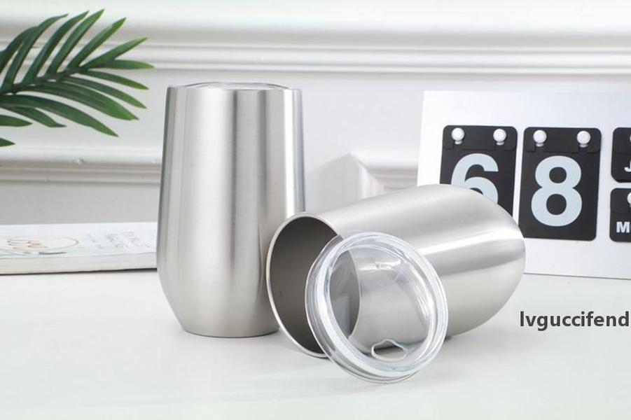 16oz parede dupla tumbler água copo de aço inoxidável copo de vácuo vinho tumbler com tampa isolada frasco bebendo A02