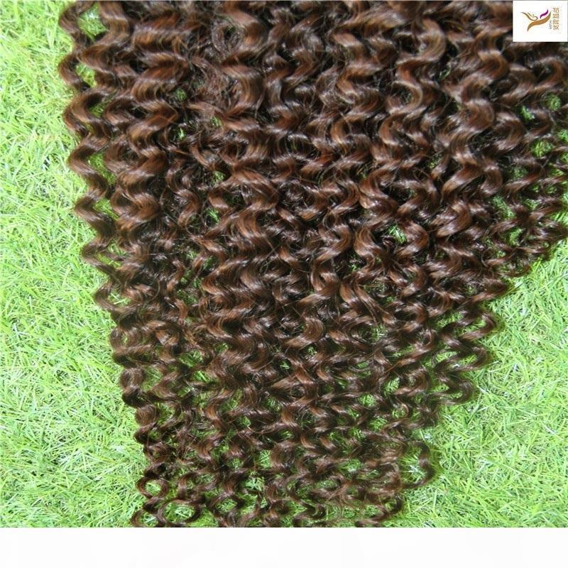 Clip boucly cervian Courly dans une extension de cheveux humains 100g 7A cheveux non transformés en clips Extensions de cheveux Remy