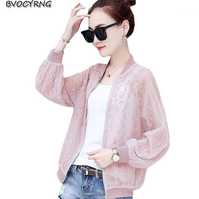 2020 Rendas Sunscreen Cardigan roupas feminina verão de mangas compridas gelo seda jaqueta fina nova moda grande tamanho magro mulheres casaco1
