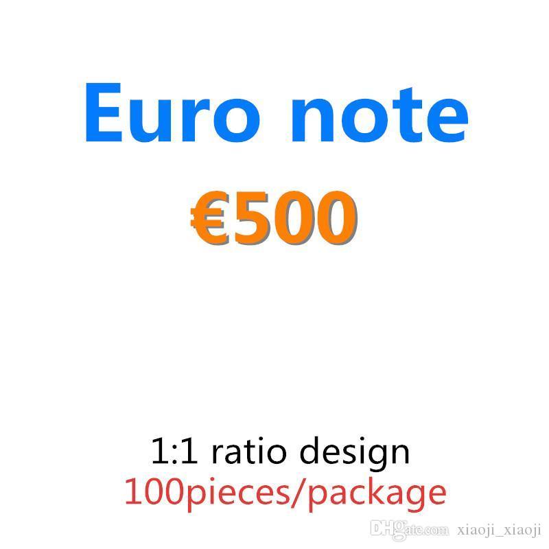 Geschenke Requisite und Dollar Banknote 500 100pcs / Pack Geld Geld Pretend Euro Qualität Papier Pfund Top Copy Collection Liefert 04 Hlgqk