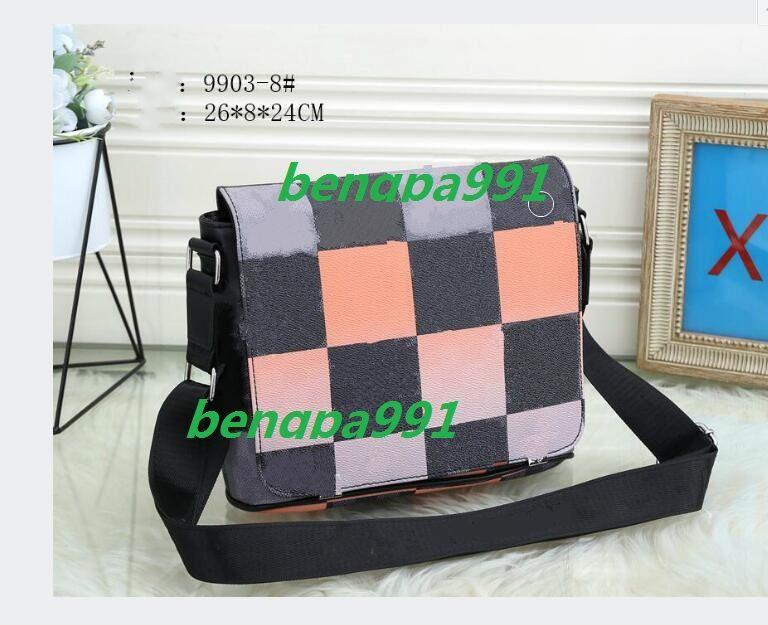 Bolso de hombro clásico de la moda de Messenger Moda de Mensajera Tamaño de la bolsa de cuero 28x8x24 xfuwl