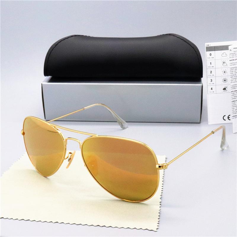 Sun ouro clássico piloto mens designer tdjgdgxluxo-alta qualidade mdqq óculos verdes óculos de sol lentes óculos de metal marrom marca wo tthv
