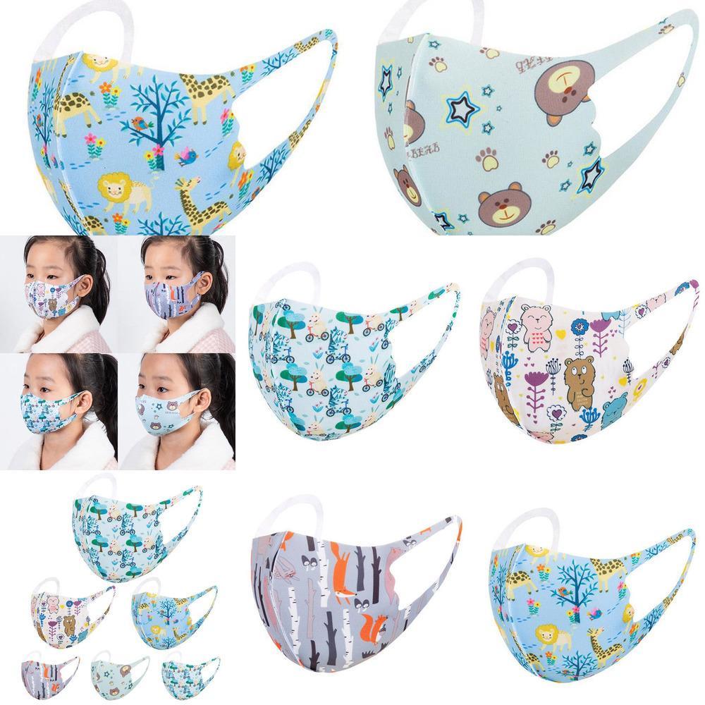Yıkanabilir Bahar Sevimli Koruyucu Çocuk Baskılı Maskeleri Yüz Çocuk Maskesi Nefes Çocuk Karikatür Yaz Parti Maskeleri B