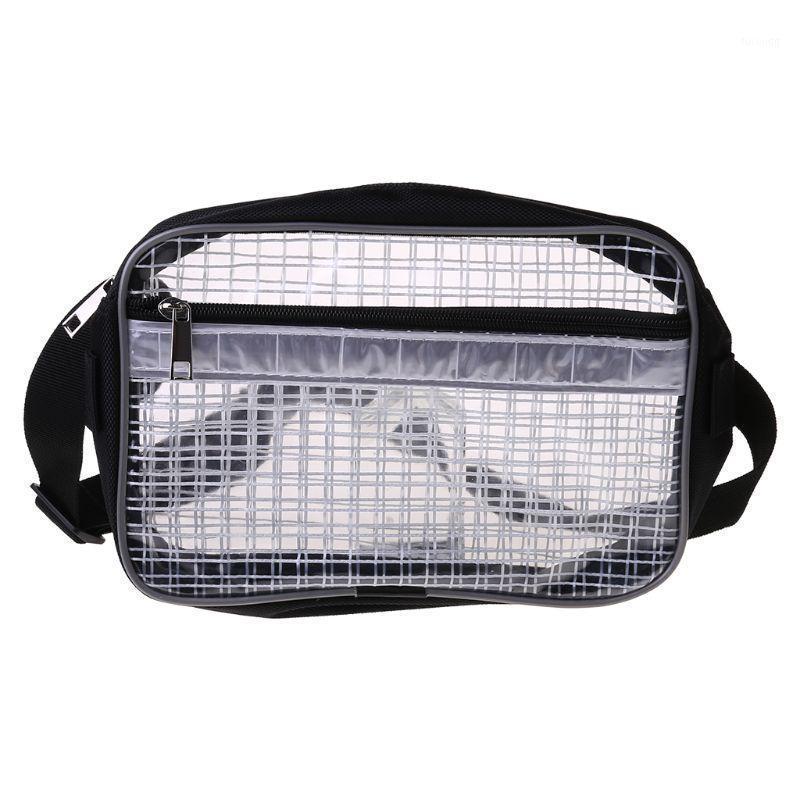 Антистатическая чистая комната Прозрачная сумка для инструментов Полная крышка ПВХ для инженерной талии Bag Fanny Pack 28GD1