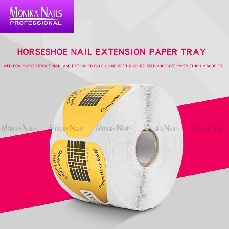 100pcs / borsa protettiva supporto carta di estensione forma gel art strumento per unghie forma vassoio carta francese manicure unghie adesivo