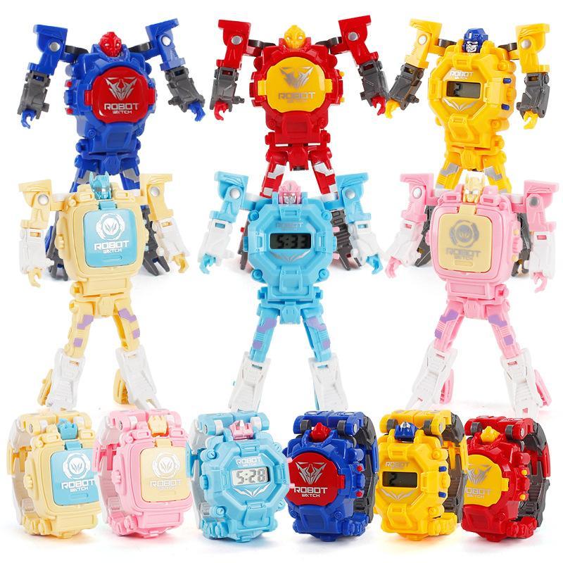 Nouvelle déformation des enfants Regarder Roi Kong Robot Robot Charge Watch Toy Produits chauds Bienvenue à la commande