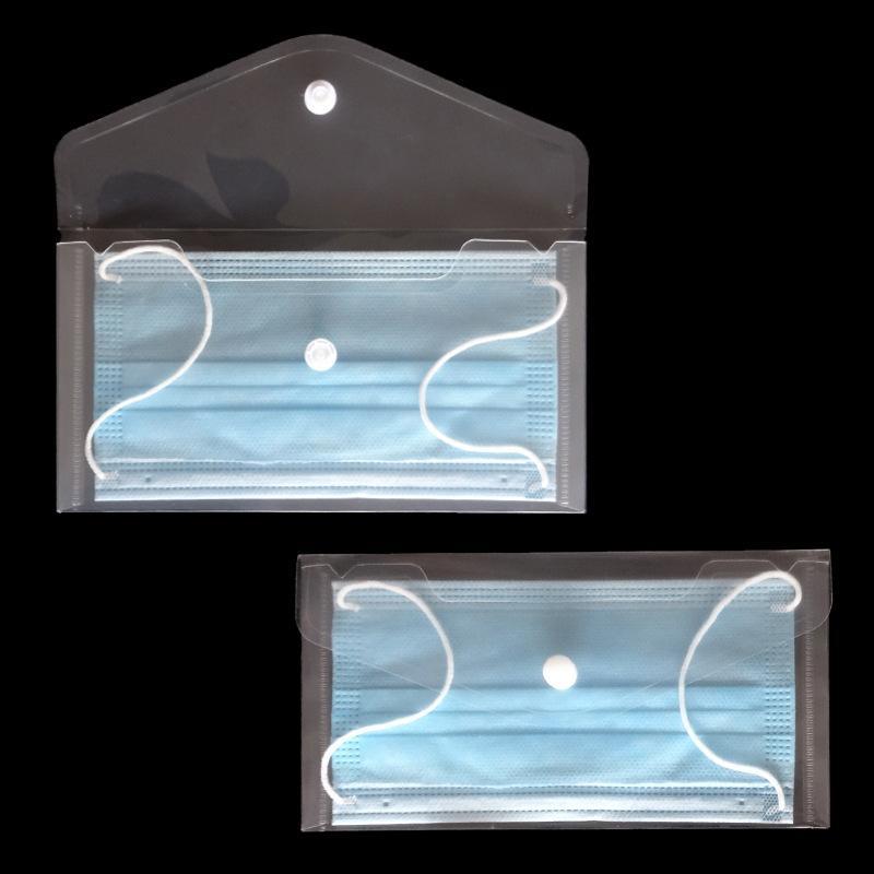 1pcs 방지 얼굴 마스크 저장 상자 케이스 휴대용 PVC 마스크 커버 가방 일회용 얼굴 마스크 홀더 마스카르 렌즈 주최자