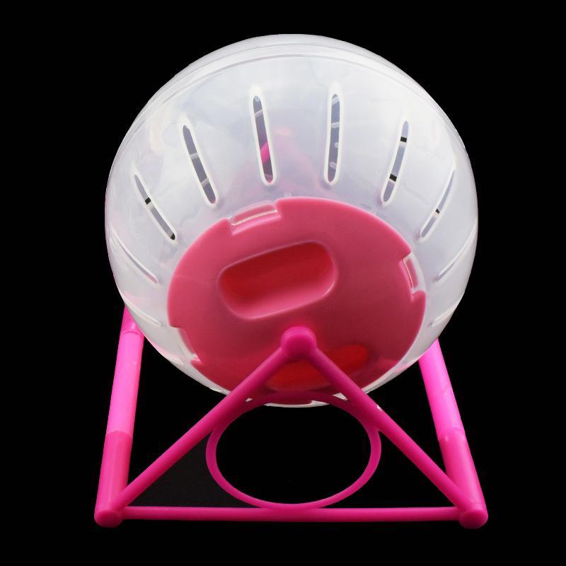 Цветовая крышка Pet бегущий мяч хомяка кронштейн ролик бодибилдинг спортивный бегун кристалл прозрачный пластиковый домашние животные поставляет новые 5 49JY M2