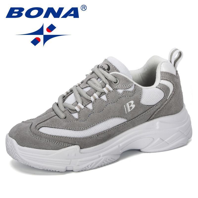 BONA New Designer Chunky Sneakers Women Vulcanize Shoes Casual Fashion Dad Shoes Platform Comfortable Basket Femme Krasovki LJ201201