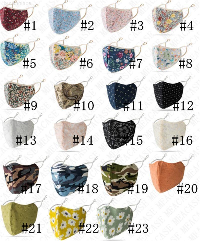 Transpirable para hombres plegables anti-polvo florales 23 Color Reutilizable Máscara de limpieza Mujeres Cara protector solar D71516 Máscaras Boca y LMKR