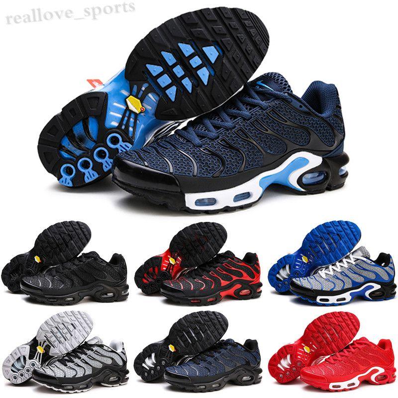NIKE Air Max TN 2020 Hombres Zapatos Triple Negro Blanco Rojo 3D Gafas Hyper Azul Pintura Hombre Entrenador Para Hombre Zapatillas deportivas transpirables TA06