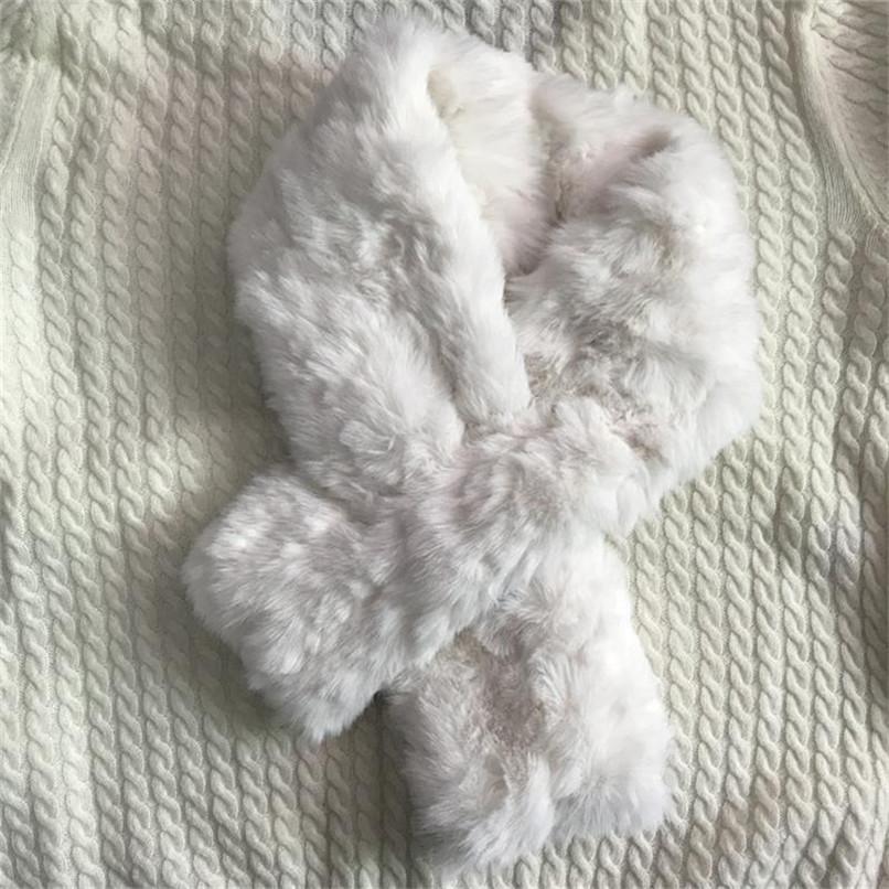 Imitazione coniglio pelliccia sciarpa ragazze donne moda inverno peluche lanuginoso colletto croce collo spalmati spessa calda pelliccia sciarpe sci ly1210