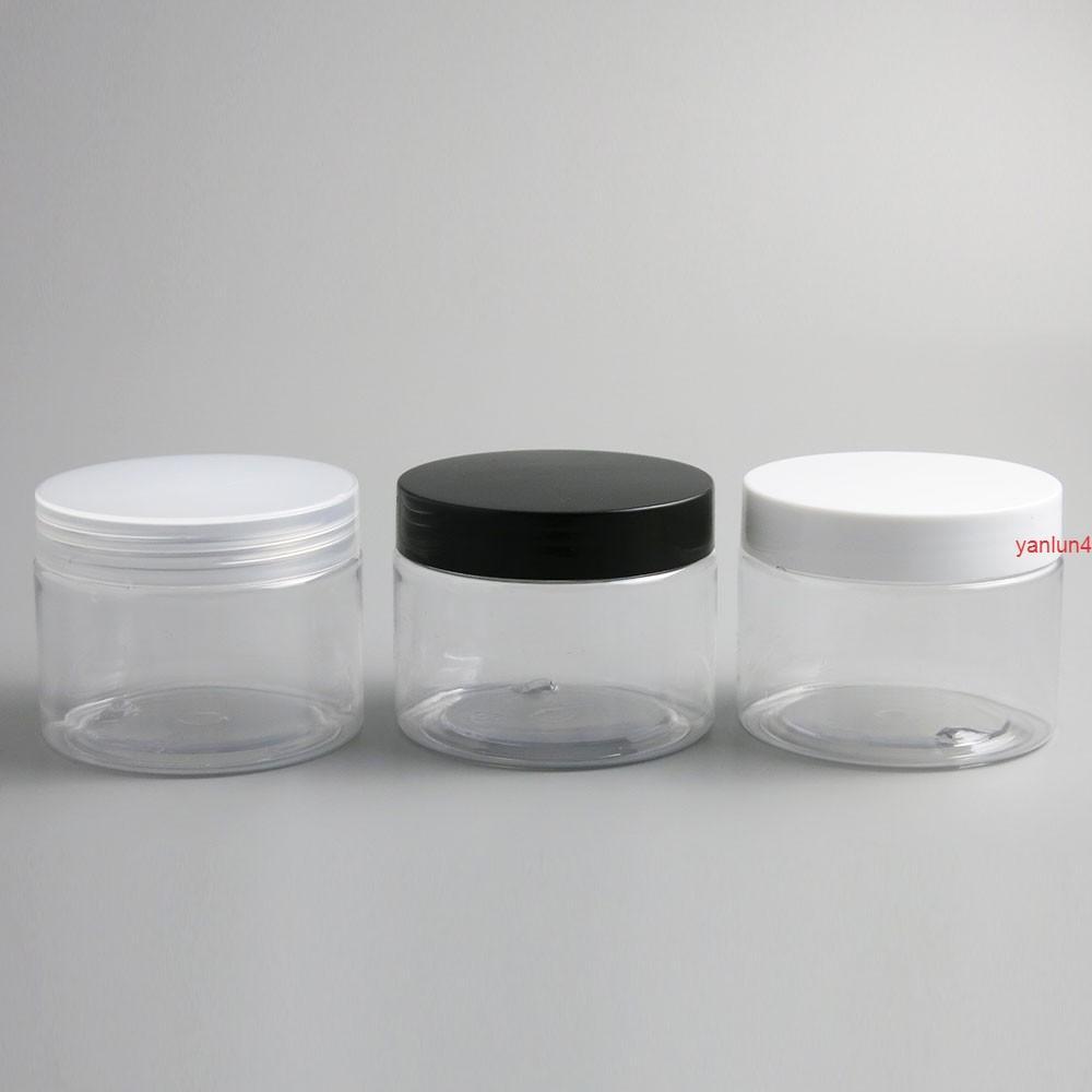 24 × 150 جرام فارغة واضحة كريم التجميل الحاويات الجرار 150CC 150ML لمستحضرات التجميل زجاجات البلاستيك مع capfree الشحن