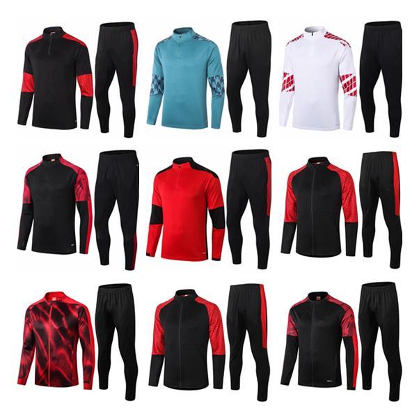Высочайшее качество 2020 2021 AC Milan взрослый футбольный костюм Selectionement 20 21 AC Milan Higuain Calhanoglu Bonucci Футбольный спортивный трексуил