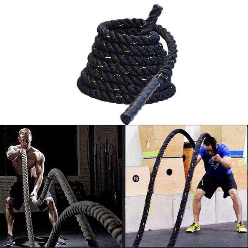 Cuerda de salto pesado salto de cuerda entrenamiento de cuerda cuerdas de batalla para hombres mujeres entrenamientos de cuerpo total de entrenamiento de poder Mejorar la fuerza BUI J0115