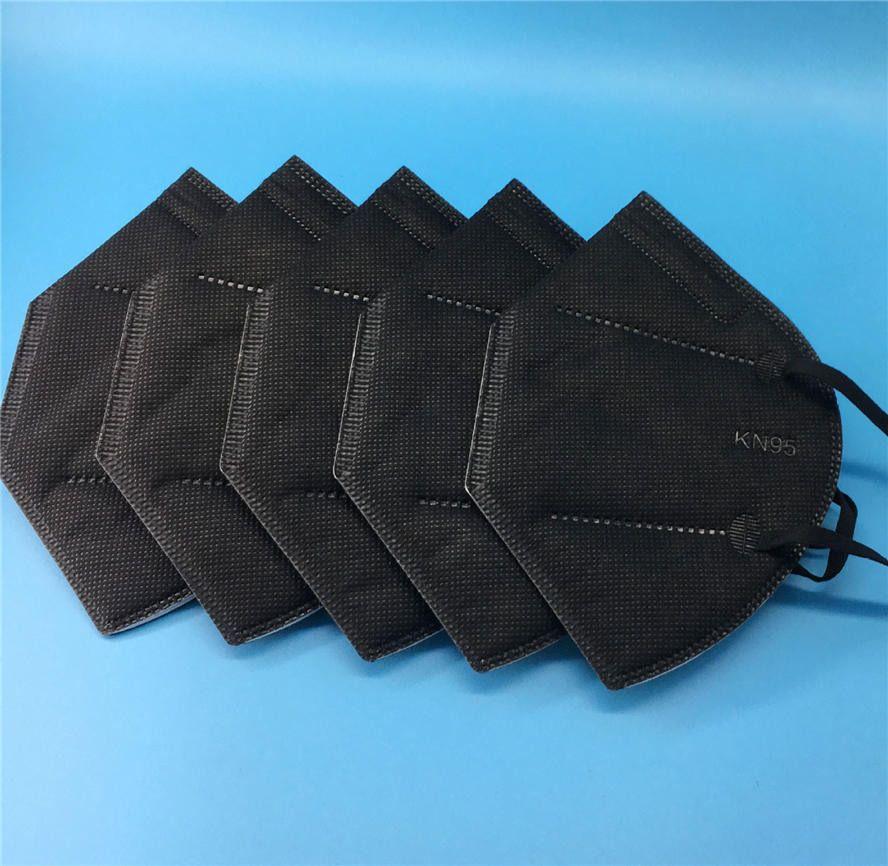 Noir jetable FFP2 FFP2 Masque Visage K95 Tissu anti-poussière anti-poussiéreux non tissé Tissu de protection bouche MASTSXHCXOZOZ
