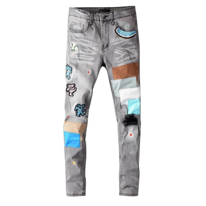 Pantaloni stile da uomo Style Style Pantaloni di moda Pantaloni dritti Uomo Casual Wear Zipper Denim Lungo 6 Modello Alta Qity