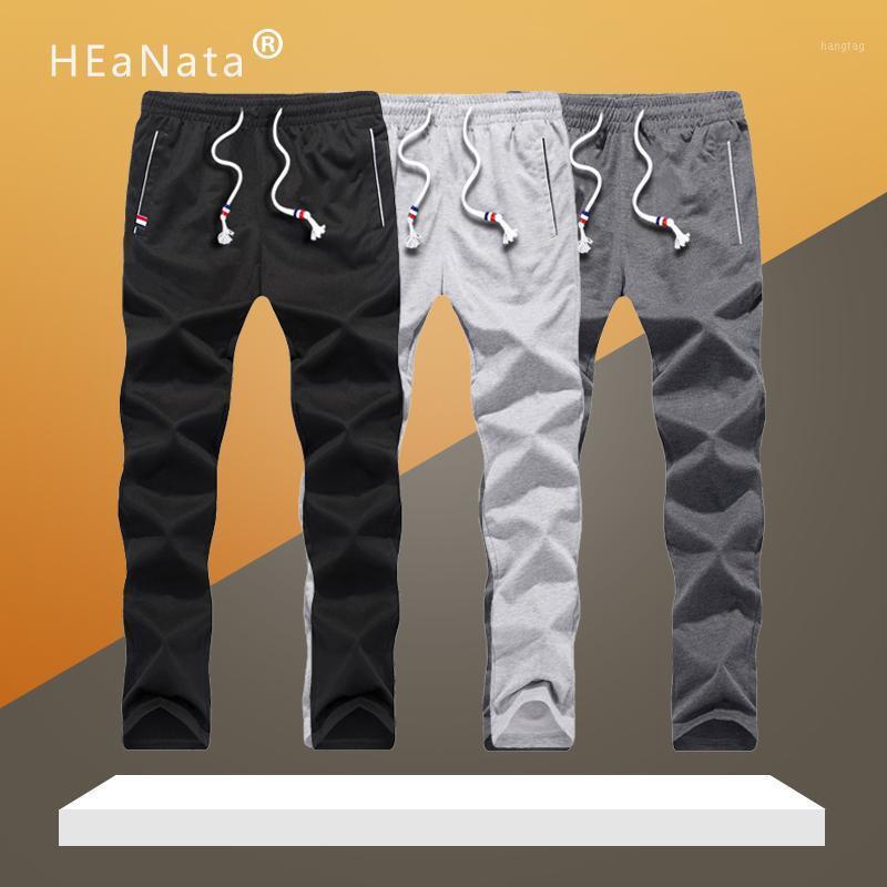 Мужские брюки штаны спортивные штаны плюс размер мужчин прогуливаются гусеницы эластичные талии спорт повседневные брюки мешковатый фитнес тренажерный зал одежда черная сережка1
