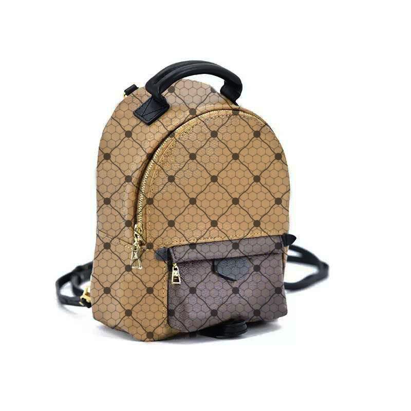 Venda quente tendência clássica tendência mochila mochila moda saco de compras de alta qualidade impressão portátil carteira caixa de presente embalagem