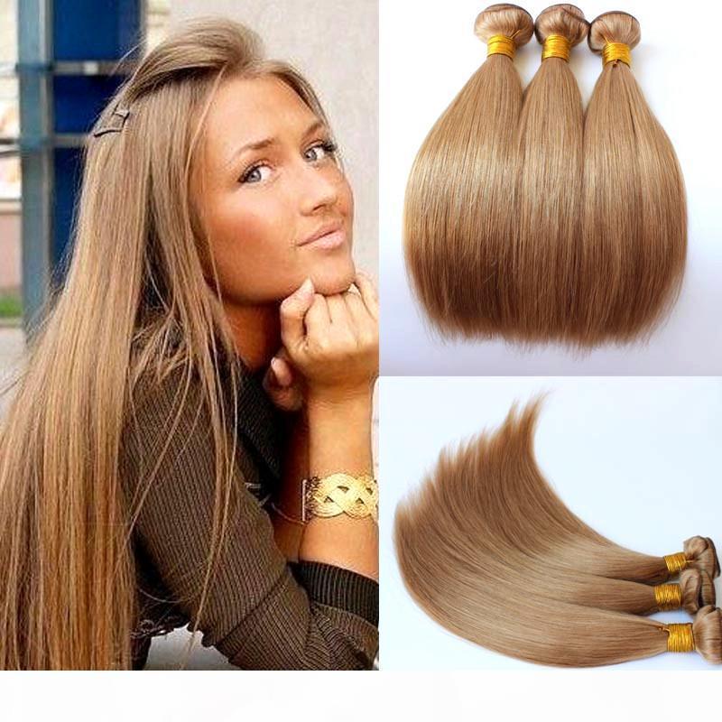 # 27 Honig blonde Farbe Brasilianische jungfräuliches menschliches haare weben gerade menschliche haarbündel pure farbe haar schuss 3 bündel webt