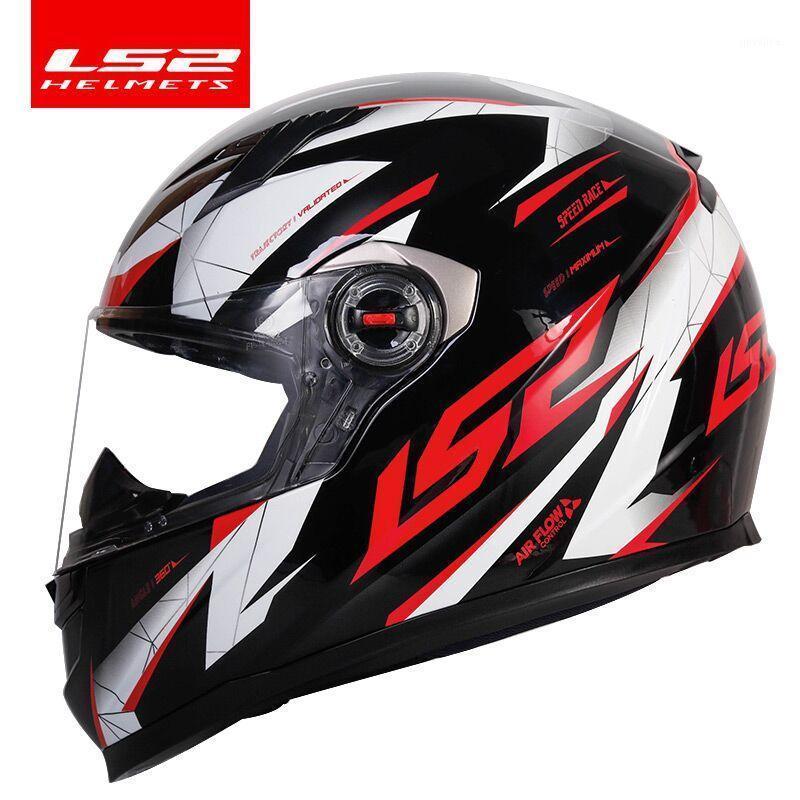 오토바이 헬멧 100 % 원래 LS2 전사 전체 얼굴 헬멧 모토 크로스 레이싱 FF358 ECE 인증 CASCO Moto Casque1