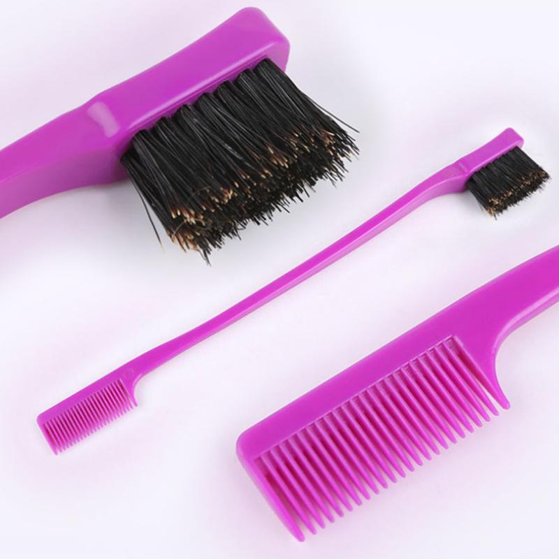 Kenar Kontrolü Saç Fırçası Çift Taraflı Tarak Jel Saç Styling için Pürüzsüz Salon Profesyonel Aksesuar Araçları Rastgele Renk Q Jlote