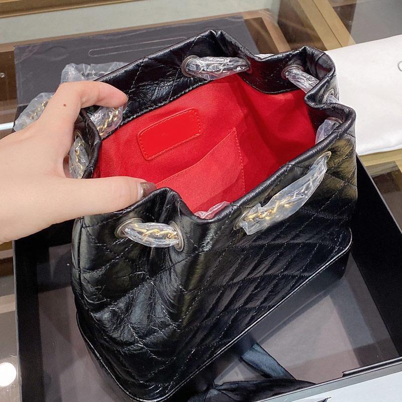High Back Hav Mareware Zaino рюкзак тонкий перекрестковый веревка кожаный кошелек качества простые цепные пакет дизайнеры роскоши путешествия wkbj txvlu