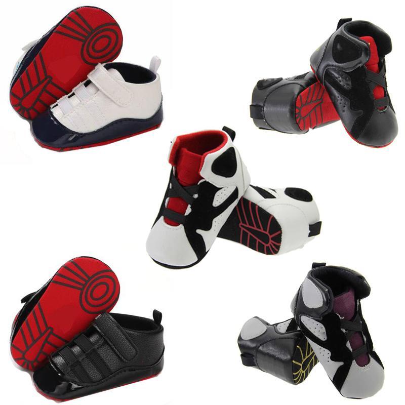 2020 PU cuir bébé filles enfants First Walkers Enfant Toddler Classic Sports Soft Soft Sole Sole Sounds Sneakers Prewalker Spring Automne B91