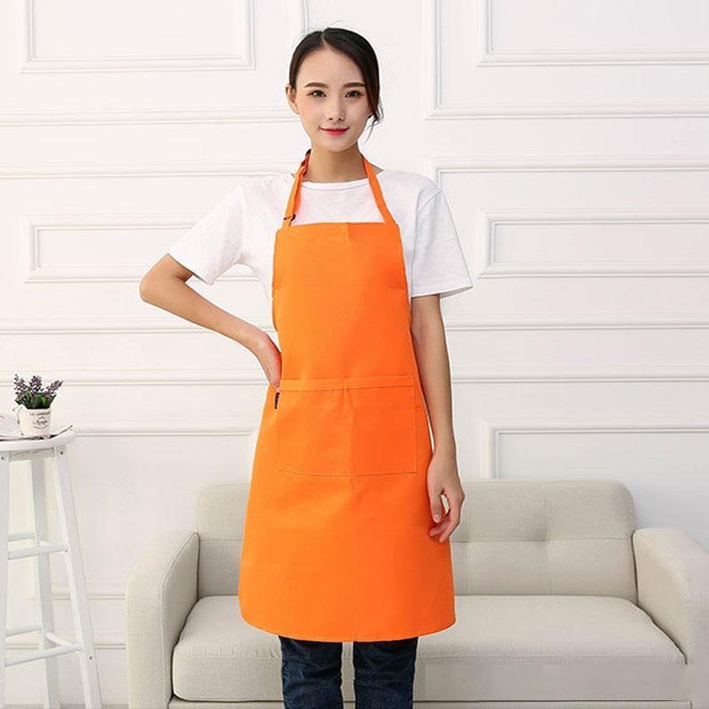 Grembiule a colori solido Cucina Cucina Pulito Accessori per le donne multifunzione Donne adulte per adulti Cooking Grembiuli da forno Abbigliamento da lavoro