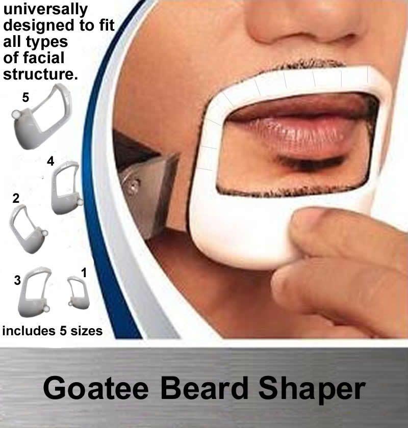 Guatee Beard Shaper Mens Tool Plantilla Guía de plantilla Diseño Bigache Beard Goatee Shaving Shape Style