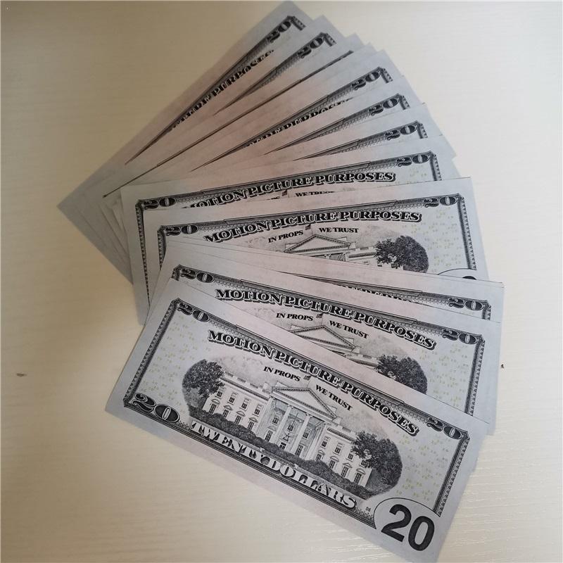 2020 grenzüberschreitende magische Requisiten 20 Dollar Eine vollständige Reihe von kreativen Puzzle-Nahaufnahme Kinderspielzeug leeres Papier in Banknoten