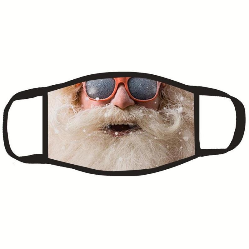 Santa Claus Lavable Cara impresa Mask Máscara de seda superior a prueba de polvo Polvo protector Boca Anti IFOHO Hombres Floral Calidad suave ER Gube al aire libre FAS HJHG